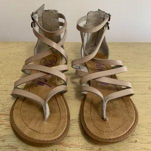 Blowfish beige gladiator sandals